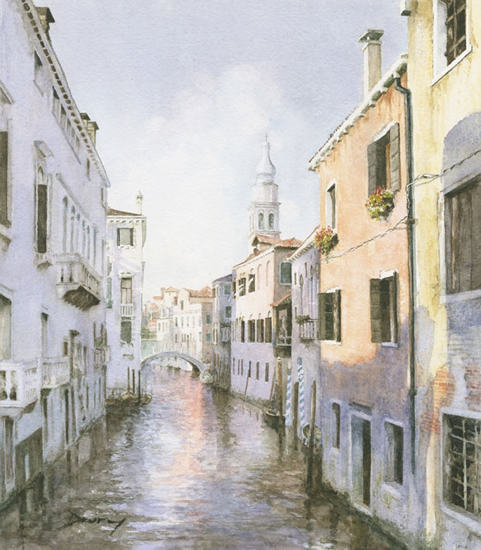 Venetian Canal - Venice Italy Art Gallery - Fine Art Prints Of Painting