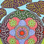 Fish Pattern Drawing by Folk Singer and Artist Martyn Wyndham-Read