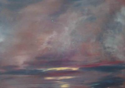 Twilight Painting – Sky Art Gallery – Kathy Plank Cranleigh Surrey Artist