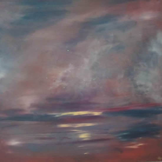 Twilight Painting - Sky Art Gallery - Kathy Plank Cranleigh Surrey Artist