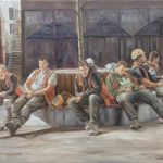 Break Time – The Lightbox Art Gallery – Woking Society of Arts Exhibition – Painting Highly Commended