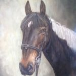 Horse Portrait Painting – Commissions by Surrey Artist Ian Henderson – Woking Art Society