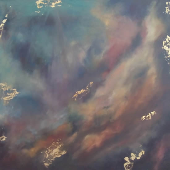 Nebula 1 - Space Art Gallery - Painting by Cranleigh Surrey Artist Kathy Plank