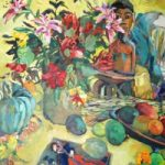 Homage to Gaugin Oil Painting by Thames Valley Art Society Artist Hildegarde Reid