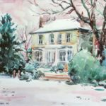 Houses On The Common Watercolour – Hildegarde Reid Thames Valley Art Society Artist