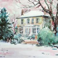 Houses On The Common Watercolour – Hildegarde Reid Thames Valley Art Society Artist