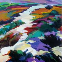 Kalahari Desert – Contemporary Art – Hildegarde Reid Sunbury on Thames Art Society Artist