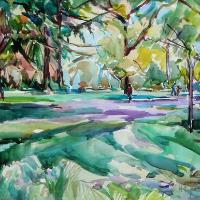 Kew Gardens Spring Woodlands – Hildegarde Reid Chelsea Art Society Artist