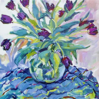 Still Life with Tulips – Hildegarde Reid – Weybridge Art Society Artist