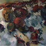 Studio Pots – Oil Painting on Canvas by Sunbury on Thames Art Society Member – Molesey Artist Hildegarde Reid