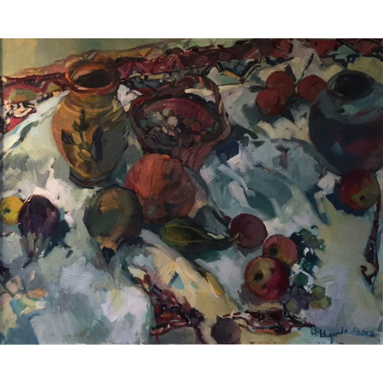 Studio Pots - Oil Painting on Canvas by Sunbury on Thames Art Society Member - Molesey Artist Hildegarde Reid