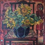 Sunflowers – Oil Painting on Canvas by Thames Valley Art Society Member – Artist Hildegarde Reid