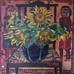 Sunflowers – Oil Painting on Canvas by Thames Valley Art Society Member – Artist Hildegarde Reid