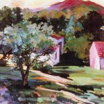 The Olive Grove France by Surrey Artist and Art Tutor Hildegarde Reid