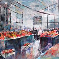Borough Market Painting London Art Gallery