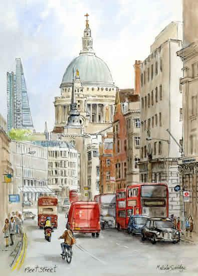 Fleet Street Art by Malcolm Surridge