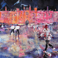 Hampton Court Palace Ice Skating Painting – Christmas Art Gallery