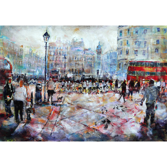 London Cyclists – City Art Gallery - Prints and Gifts of Painting Available