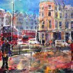 London – Friends Catching Up – Cityscape