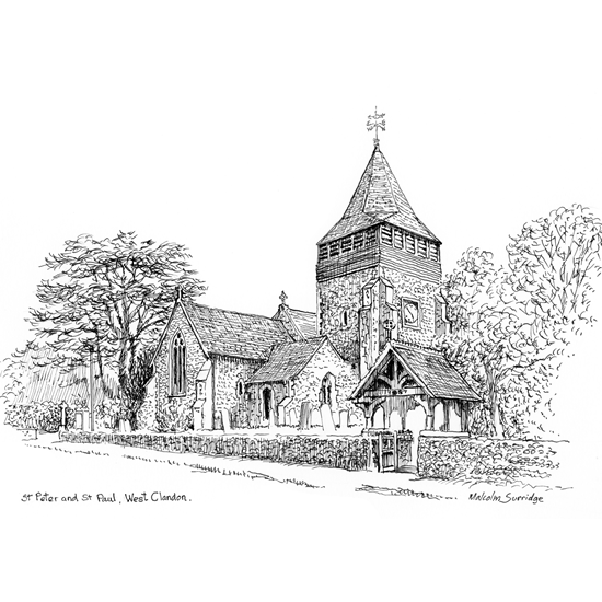 St Peter & Paul Church - West Clandon Artwork