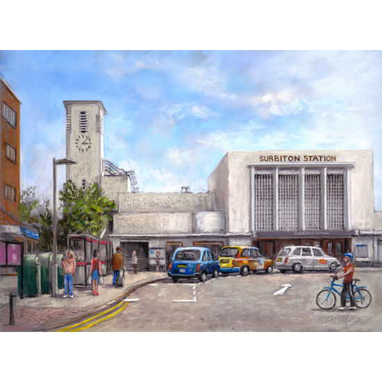 Surbiton Railway Station Painting - Surrey Art Gallery  - Fine Art Prints For Sale