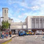 Surbiton Railway Station Painting – Surrey Art Gallery