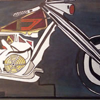 Motorcycle Painting – Abstract Art Gallery