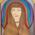 Angel Art Prints: Rainbow Chakra Painting – Artist Karen Marie Budge
