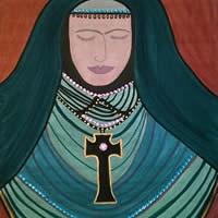 Angel Art Prints: Sombre – Painting by Karen Marie Budge
