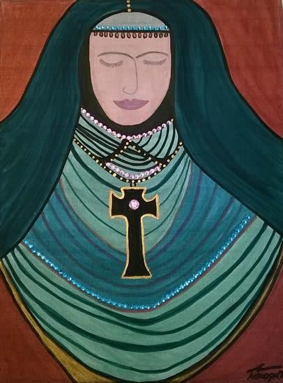 Angel Art Prints: Sombre Painting by Karen Marie Budge Artist