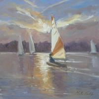 Evening Sail, Papercourt – Melanie Cambridge Artist