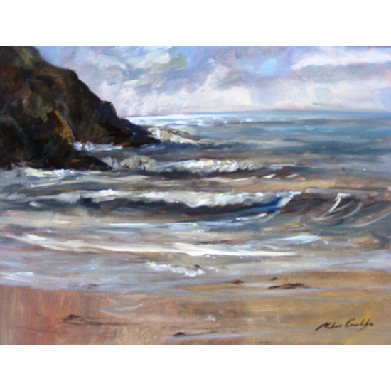 Evening Surf, Polkerris - Melanie Cambridge