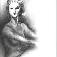 Female Nude in Charcoal – Rachael Tan Art