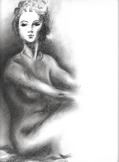 Female Nude in Charcoal - Rachael Tan Art
