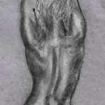 Female Nude on Grey – Rachael Tan Artist