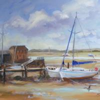 Low Tide, Dell Quay – Painting – Melanie Cambridge