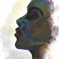 Profile Painting - Acrylic On Canvas - Prints Available In Any Size