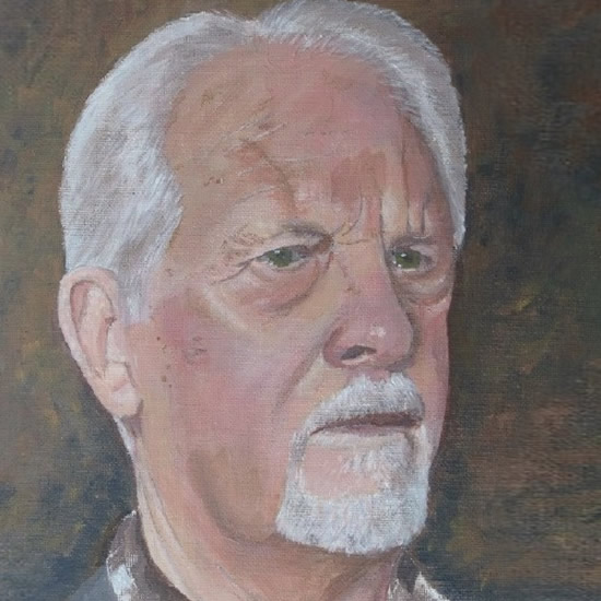 Surrey Artist Richard Willmott Self Portrait Painting - Cranleigh Society of Arts & Crafts