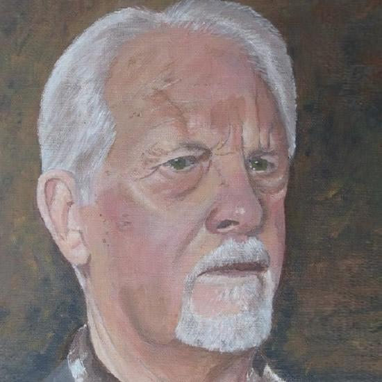 Surrey Artist Richard Willmott Self Portrait Painting - Cranleigh Society of Arts & Crafts