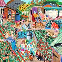 The Apple Picker Painting – Tony Todd Surrey Artist