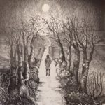 Farnham Art Society – Ridgeway between Wantage and Blewbury – Pen and Ink Artist Paul Morris