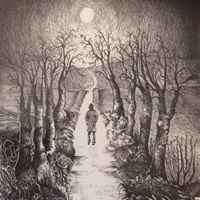 Ridgeway between Wantage Oxfordshire and Blewbury - Pen and Ink Art Gallery
