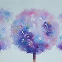 Alliums Painting – Flowers Art Gallery