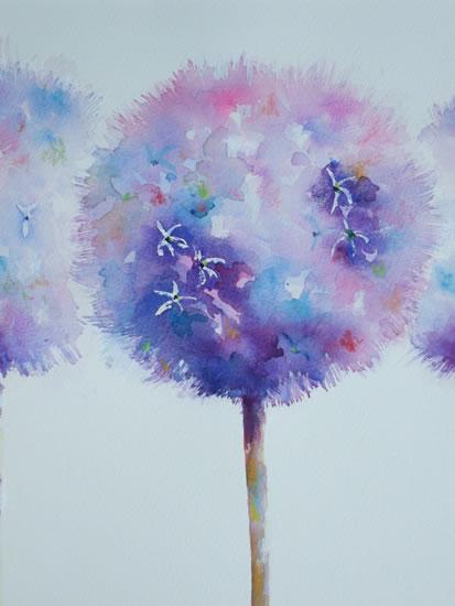 Alliums Painting - Flowers Art Gallery - Woking Surrey Artist Elisabeth Carolan