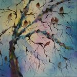 Birds Singing In Tree – Dawn Chorus Painting – Woking Art Gallery