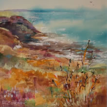 Cornish Coast – Cornwall Art Gallery of Woking Surrey Artist Elisabeth Carolan