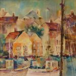 Cornish Harbour – Cornwall Art Gallery of Woking Surrey Artist Elisabeth Carolan