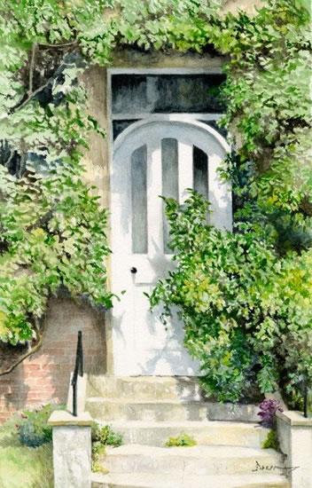 Art - White Door Painting - David Drury Woking Surrey Artist