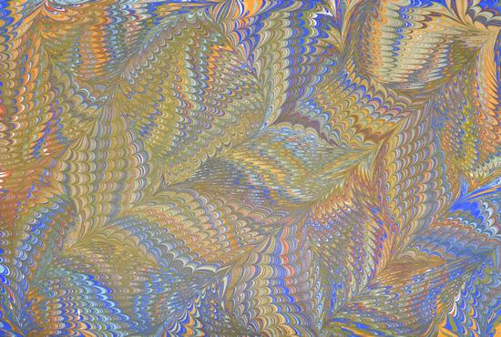 Comb and Shawl - Art of Marbling - Surrey Artist Ebru Koçak- Surrey Art School Workshops Newdigate Dorking