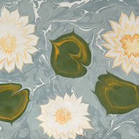 Water Lillies – Art of Marbling – Surrey Artist Ebru Koçak- Surrey Art School Dorking